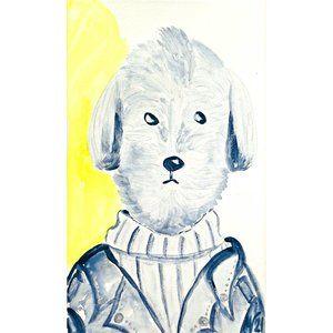 Stupell Industries Hipster Dog Jacket ORIGINAL Wal